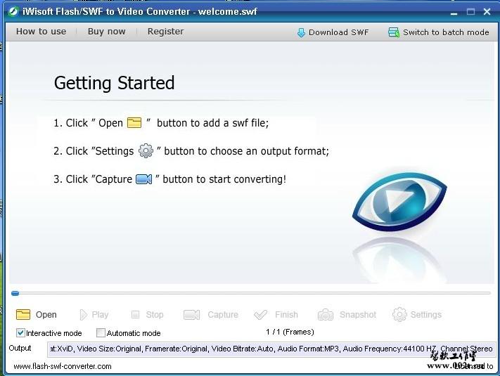 iWisoft Flash SWF to Video Converter