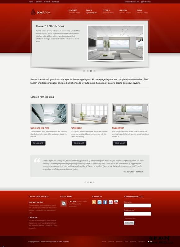 国外精致的企业网站设计