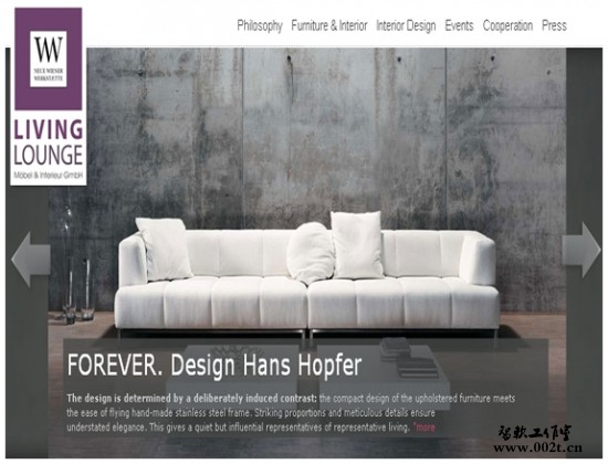 国外家具类网站设计欣赏了!